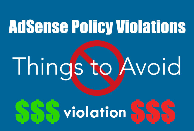 SEOsurfer guide Adsense Policy Violations