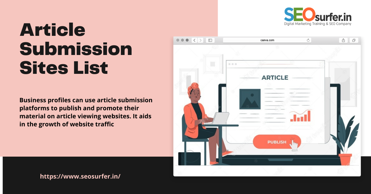 Top 25 High DA Do Follow Article Submission Sites